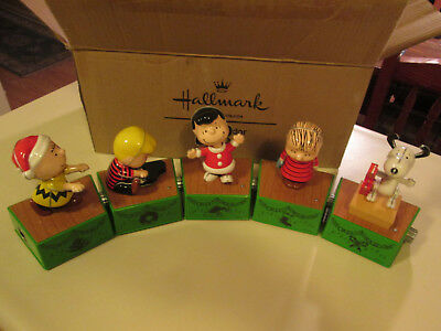Peanuts Christmas Dance Party Set of 5 pieces - Hallmark 2017