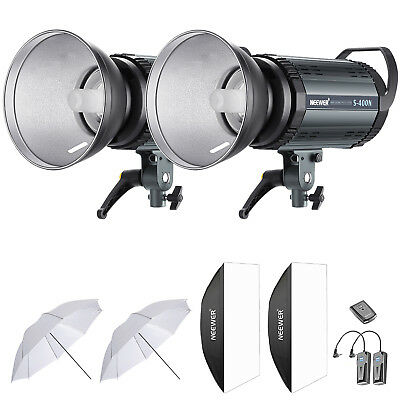 Neewer 800W Estudio Flash Estroboscópico Monolight Iluminación Kit 2*400W