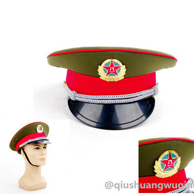 Military officer Captain's Visor Hat  Chinese People's Liberation Army Cap&Badge