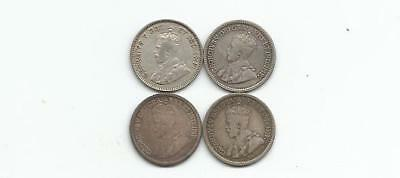 Ncoffin Canada King George V 1911 1912 1913 1914 Five Cents .925 Fine Coins