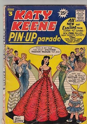Katy Keene Pin-Up Parade#3, 1957 Archie, Gd+ Condition