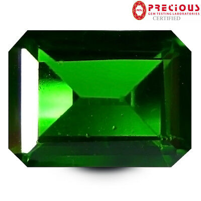 1.33 ct PGTL Certified Shimmering Octagon Cut (8 x 6 mm) Chrome Diopside