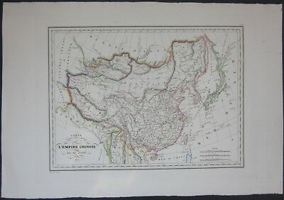 1837 EMPIRE CHINOIS JAPON map Malte-Brun China 中华人民共和国 Japan 日本
