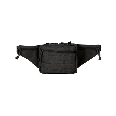 Voodoo Tactical 15-931601000 Black Hide-A-Weapon Fanny Pack Removable Holste