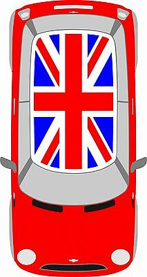 Brand new BMW Mini R50 Full Custom Union Jack Flag Roof Vinyl Graphics Kit