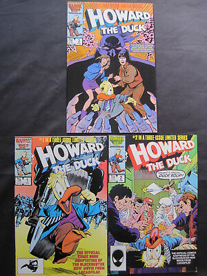 HOWARD the DUCK : COMPLETE 3 ISSUE 1996 MARVEL SERIES by FINGEROTH & BAKER.1,2,3
