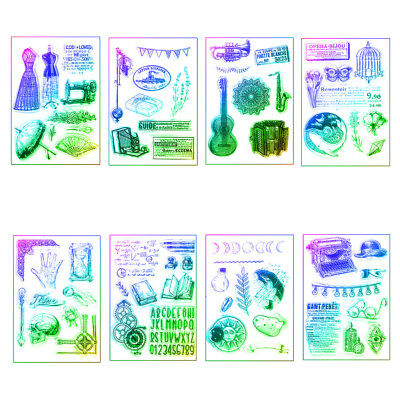DIY Crafts Clear Retro Scrapbooking Transparent Stamp Silicone Rubber