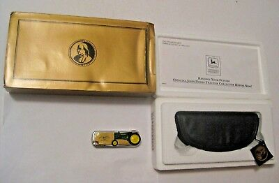 Vintage Franklin Mint Collectible John Deere Folding Pocket Knife In Box ~ L@@k