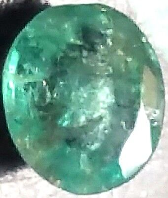 Natural Colombian Oval Cut Emerald 0.75 Ct Scu7688