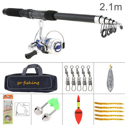 Fishing Rod and Reel Combo Full Kit Spinning Reel Gear Organizer Pole Lures Set