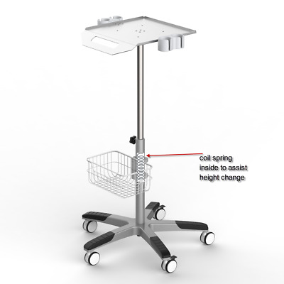 Mobile Rolling Cart for Ultrasound Imaging Scanner System. Aajustable height FDA