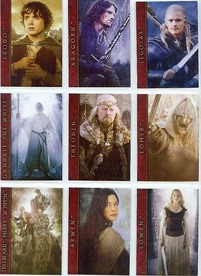 Lord of the Rings The Two Towers Nine Card Promotional Set