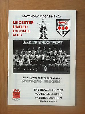 Leicester United V Stafford Rangers 1988-89