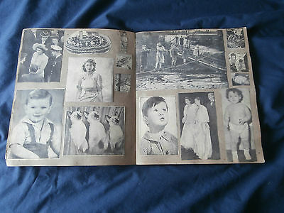1940's / 50's SCRAPBOOK - NEWSPAPER PICTURES ROYALTY AND SOCIAL HISTORY
