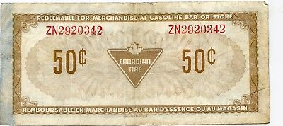 Canada Tire 50 Cents note   lotsep5008