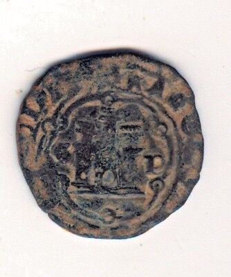 "Cincin19,Historical coin Spain 4 Maravedies""Santo Domingo""Carlos Iº,Emperor King"
