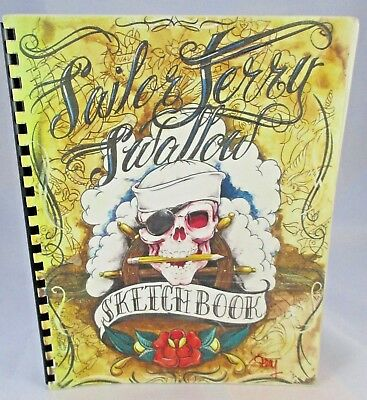 Sailor Jerry Swallow Sketchbook Tattoo Flash OOP Sailor Jerry Collins Book