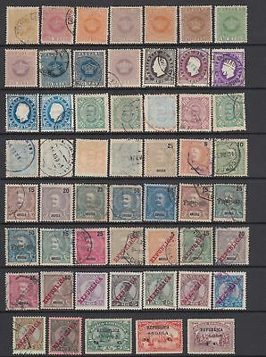 Angola 1870 - 1913 collection , 66 stamps
