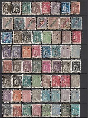 Angola 1914 - 1935 collection , 100 stamps