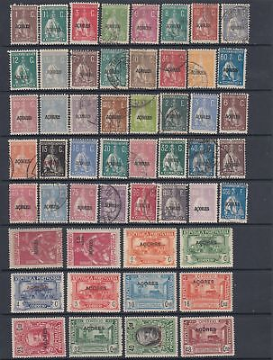 Azores 1912 - 1925 collection ,58 stamps