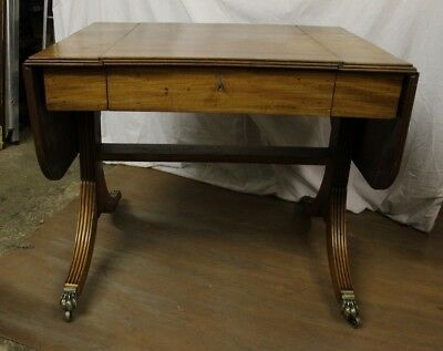 ANTIQUE  REGENCY   solid MAHOGANY DROP LEAF SOFA /SIDE TABLE