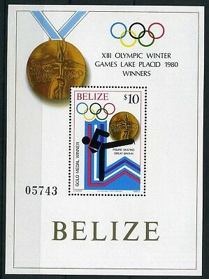 Belize MiNr. Block 21 postfrisch/ MNH Olympiade 1980 Lake Placid (Oly95