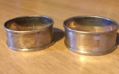 Pair of Solid Sterling Silver Napkin Rings.