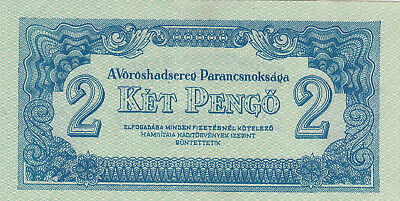 2 Pengo From Hungary 1944 Extra Fine Banknote Issued By The Red Army!pick-M3