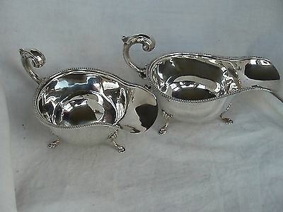 Pair Of Sauce Boats Sterling Silver Birmingham 1933