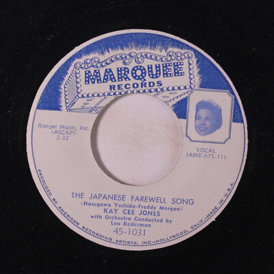 KAY CEE JONES: The Japanese Farewell Song / I Wore Dark Glasses 45 Vocalists