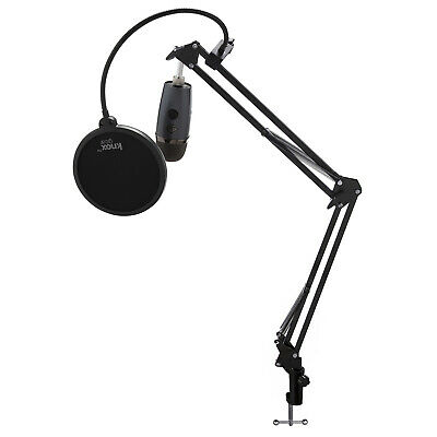 Blue Yeti Nano Microphone (Shadow Gray) with Knox Gear Boom Arm and Pop Filter