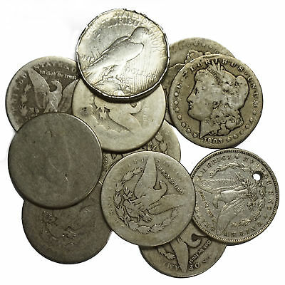 Silver Dollars with Major Wear and Damage (Slicks, Holes) - Price per Coin