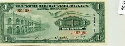 Guatemala Quetzal 1952 issue Pick 24a nice note scarce   lotsep5029