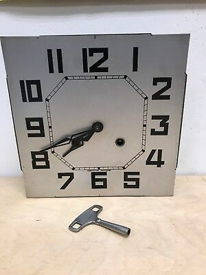 Antique Odo French Westminster Chime Wall Clock Art Deco working condition