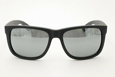 067e9eec3e ... reduced ray ban rb 4165 justin sunglasses 622 6g matte black rubber  gray mirrored 54mm fbddf