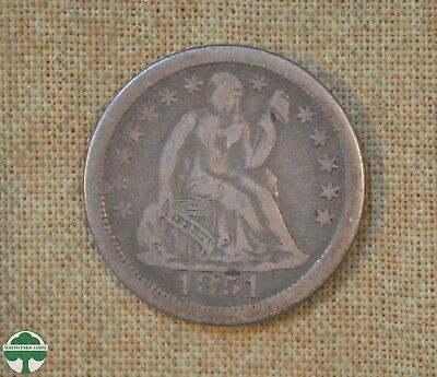 1851 O Seated Liberty Dime - Fine Details -