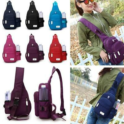 Men Women Crossbody Shoulder Chest Cycle Sling Bag Daily Travel Backpack S