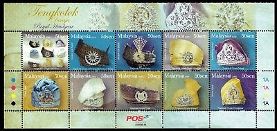 Malaysia 2008 Royal Headgear Sheet of 10 Mint Unhinged