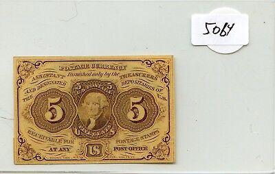 US Fractional Currency 1862 series 5 cents note Pick 97c super HG lotsep5063
