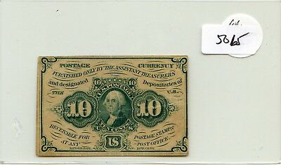 US Fractional Currency 1862 series 10 cents note Pick 98d HG lotsep5065