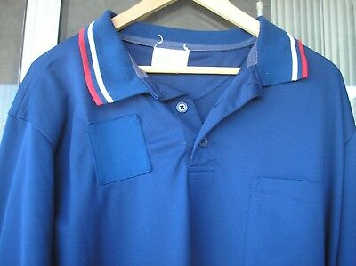 BASEBALL Long Sleeve UMPIRE UNIFORM SHIRT Navy Blue Honigs Size XXL Sold AS-IS!