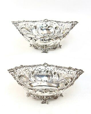 Pair of Gorham Sterling Rococo Reticulated Bowls