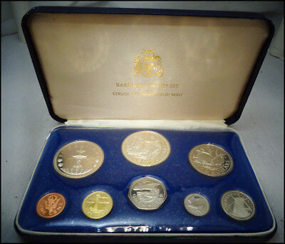 1974 Barbados 8-Coin Proof Set with 1.927 oz of silver - Franklin Mint