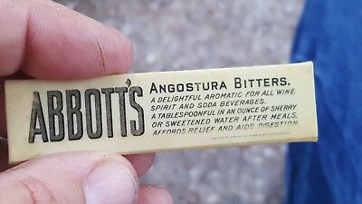 old ABBOTT'S Angostura Bitters Celluloid Advertising,for Medicine,Soda & Wine