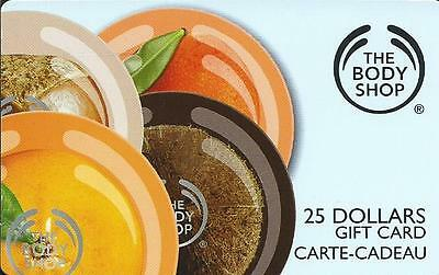 The Body Shop Mint Gift Card From Canada Bilingual # 3 No Cash Value