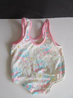 VTG Baby Girl Carter's Bathing Suit Floral Bouquet Nylon 18 Month USA SO CUTE!