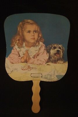 Vtg Hand-Held Fan Advertising Trinkle Motors New Albany, Indiana