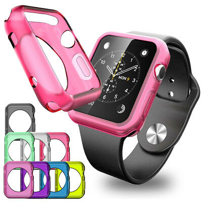 TPU Frame Bumper iWatch Case Cover Skin For Apple Watch Series 1 2 3 38mm / 42mm