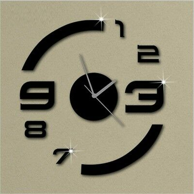 DIY Luxury Mirror Wall Clocks 3D Home Decor Wall Watches Wall Stickers Clock IN9