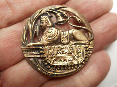 Egyptian Sphinx NEW Brass Button 1-1/2""